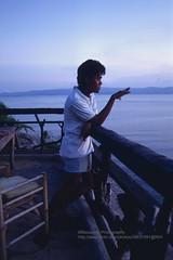 Koh Phangan, Suncliff Bungalows, Da (blauepics) Tags: sunset cliff sun man beach strand thailand island asia sdostasien sonnenuntergang insel ko thai da mann 1991 southeast manager koh phangan haadrin rin bungalows haad suncliff