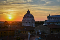 Pisa Sunset 9 (chriswalts) Tags: travel sunset italy streets tower night pisa leaning