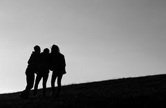 silhouette (1) (glookoom) Tags: blackandwhite bw black france nature monochrome silhouette montagne grenoble gris noir noiretblanc lumire contraste blanc contrejour forme chamrousse minimaliste rhnealpes