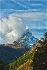 The Matterhorn, Cervin,Cervino. (4478m alt. ). No, 6053. (Izakigur) Tags: happy switzerland europa europe walk climbing zermatt matterhorn svizzera schwyz cervin musictomyeyes cervino myswitzerland nikond200 izakigur