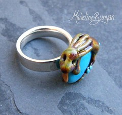 "Tan Bunny on Turquoise Ring Top • <a style=""font-size:0.8em;"" href=""https://www.flickr.com/photos/37516896@N05/6418486383/"" target=""_blank"">View on Flickr</a>"