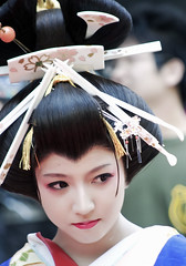 (destebani) Tags: portrait girl beautiful beauty face japan closeup asian japanese photo nikon chica retrato traditional cara maiko geisha  japonesa japon japn      oiran  asianbeauty  beautifulphoto  d300s