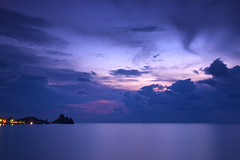 Romantic wake up - Aci Castello (Mark Phillip) Tags: pink sea italy seascape clouds sunrise landscape dawn nikon soft long exposure italia nuvole mare purple d70 alba rosa 09 sicily nikkor grad viola castello catania sicilia aci trezza graduated density manfrotto acitrezza neutral 1870 filtro neutro cokin acicastello gnd p121 mll3 nd8 p121s 055xprob graduato