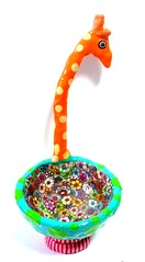 giraffe bowl (**mira pinki krispil-colors of life ***) Tags: sculpture art animal handmade bowl fimo clay giraffe pinki  polymer         mirakris