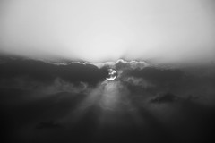 Full sun (Fares Al-876ANI) Tags: light sky bw sun white black clouds blackwhite sunrays lightrays سماء الشمس سحاب أشعة سحب أبيضوأسود شعاعالشمس