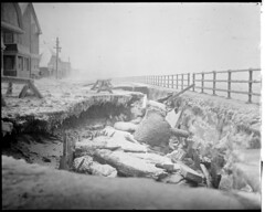 Winthrop storm Shore Drive, seawall gone (Boston Public Library) Tags: weather storms floods lesliejones