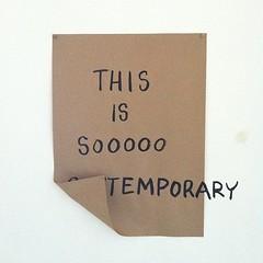 Dad Art jokes? (Willbryantplz) Tags: oregon square portland mfa contemporaryart satire squareformat normal temporary psu iphoneography instagramapp uploaded:by=instagram foursquare:venue=4b4231cdf964a520a3ce25e3