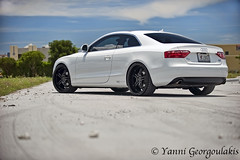 Audi A5 on 360 Forged Wheels (Yankis) Tags: auto sky white black car photography nikon inch photographer florida photos miami wheels 360 automotive professional pro audi rims a5 coupe f28 forged d3 20s yanni 2470mm 2470 360forged georgoulakis