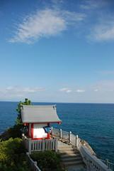 Shinto shrine overlooking the sea at Katsura-hama