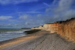 Seven Sisters, UK (Ben124.) Tags: uk sea sky beach clouds landscape sand cliffs sevensisters