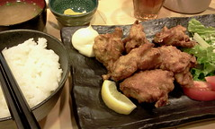 Karaage lunch set from Kuchan @ Ichigaya (Fuyuhiko) Tags: from set lunch tokyo   ichigaya   karaage kuchan   flickrandroidapp:filter=none