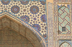 Tile Detail from the Registan, (1) (**El-Len**) Tags: geometric architecture tile madrasah unesco calligraphy uzbekistan centralasia samarkand registan islamic worldheritage tilework 15thcentury fav10 ulugbek