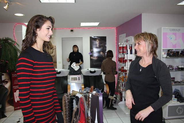 Avec Corinne la responsable du Comité de soutien de Mathilde