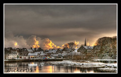 Merry Christmas to all my contacts (wicker05) Tags: snow scotland merrychristmas hdr wick caithness wintry flickrsbest