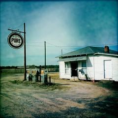 Pure (MilkaWay) Tags: abandoned highway gasstation roadside pure johns gaspumps johnsoncounty blanko ruralgeorgia iphonography us319 hipstamatic iphone4s exploredecember112011