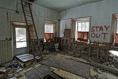 stay out, st. joseph island, ontario (twurdemann) Tags: house ontario abandoned rural warning ruins decay interior hovel forbidden explore toad askew northernontario stayout baseline oldstonehouse uline stjosephisland hwy548 highway548