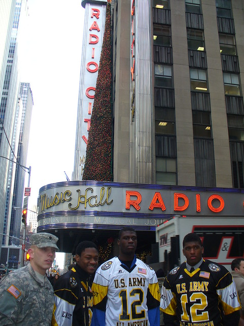Soldier of the Year and Army All-Americans at Radio City Music Hall