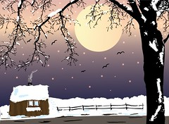 Winter Landscape Illustration
