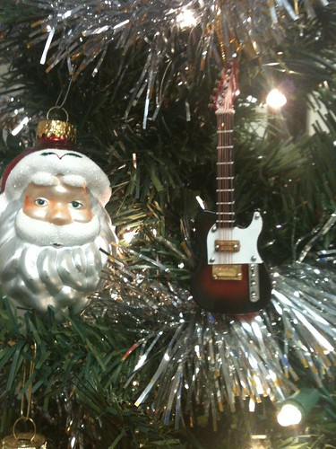 rock and roll christmas tree decorations