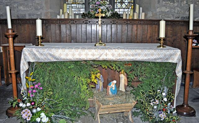 altar nativity scene