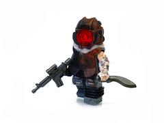 Lone Walker ([N]atsty) Tags: dead sand rust helmet apocalypse armor lone lonely fi acr minifig custom m4 sci minifigure apoc kukri acog brickarms