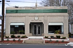 1925 Art Deco Utilities Building (Wires In The Walls) Tags: 1920s building clock architecture connecticut hexagonal ct hexagon artdeco branford 1925