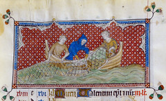 Signs of Zodiac: Pisces (petrus.agricola) Tags: london library mary medieval illuminated queen british zodiac february month manuscript pisces labours psalter