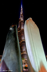 Burj Khalifa, second view: Together (Ahmad Saleh Photography) Tags: sculpture art downtown dubai uae style arabic together khalifa height burj emirati lutfi    romhein