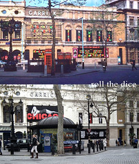 Charing Cross Road`1961-2011 (roll the dice) Tags: uk trees chicago london art history classic westminster architecture subway actors boards traffic theatre soho cinemas retro leicestersquare coventgarden local lamps ornate bog urinals demolished charingcross westend toilets sixties 1890 1961 oldandnew garrick wc2 pastandpresent londonist bygone hereandnow ragtrade nicolanterns