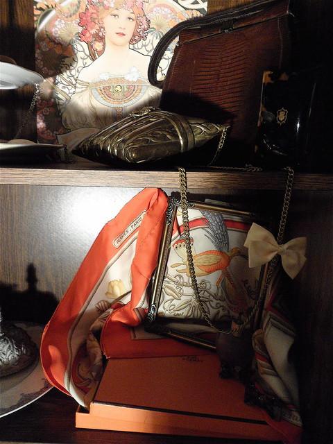 """FOR SALE: Hermès """"Caraibes"""" silk scarf"""