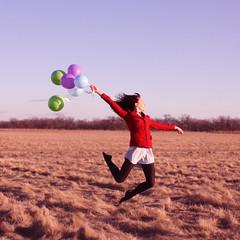 Graceful Landings ([avie]) Tags: red girl balloons jump levitation dancer again yep gracefullandings