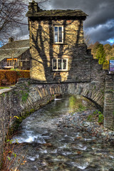 The Bridge House (Alf's Work) Tags: bridge house apple glass stone river store lakedistrict hdr ambleside stockbeck
