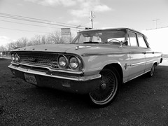 (Josh_G) Tags: auto old blackandwhite classic ford car automobile antique kentucky machine rusty chrome vehicle louisville 500 collectors galaxie 1963 sonydscf828