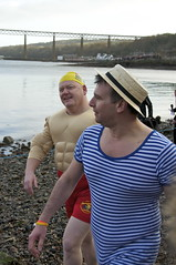Loony Dook 2012 (Lee Carson) Tags: new edinburgh south year forth looney hogmanay dook 2012 firth queensferry loony