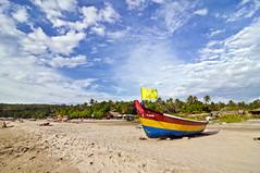 Arambol in Goa (Anoop Negi) Tags: travel sea portrait cloud sun india holiday beach clouds photography for boat photo sand media image photos delhi indian bangalore goa creative images best journey indie po destination mumbai anoop indien inde negi  arambol  ndia photosof   ezee123  intia  n   imagesof     blinkagain jjournalism  ndia n indi