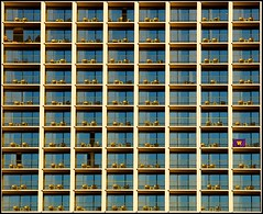Tetris (Matt Pasant) Tags: sunset sanantonio marriott canon hotel patterns repetition isolation magichour riverwalk canonef70200mmf28lis