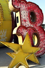 Red & Yellow (:KayEllen) Tags: old las vegas signs grave museum yard vintage neon decay weathered bone neveda