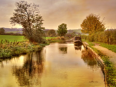Last Days of Autumn. Nellie Vin (Nellie Vin) Tags: autumn sky color water season print landscape photography boat coventrycanal nellievin hartshillwharf