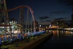 みなとみらい21 (japanders) Tags: japan night tokyo ferriswheel 日本 yokohama kanagawa minatomirai 横浜 神奈川県 みなとみらい cosmoclock