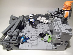 The ruins of Thursta (|T|itus) Tags: street star fight lego clones wars clone vignette moc bountyhunters thursta