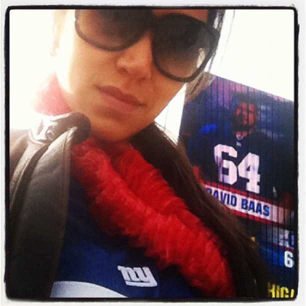 At the #GIANTS GAME!
