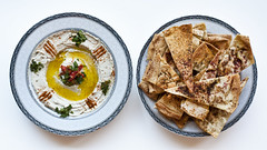 Baba Ghannooj And Toasted Lebanese Bread (Youset) Tags: