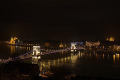 Budapest at night from the Buda castle 2 (Romeodesign) Tags: bridge night reflections lights long exposure hungary basilica budapest parliament palace chain lions duna gresham danube pest donau lánchíd 550d gettyhungary1