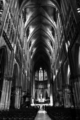Cathedral (Jonathan Adami) Tags: light blackandwhite bw france church architecture cathedral geometry sony metz nex 18200mm nex5 sel18200