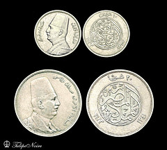 King Fouad's 10 & 20 Silver-Piasters (Tulipe Noire) Tags: africa silver coin king 10 egypt middleeast egyptian 20 1933 1923 fouad piasters