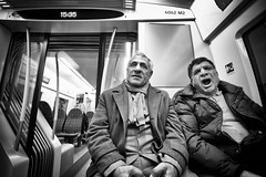 Geezers.. (Peter Levi) Tags: city blackandwhite bw men blancoynegro subway sweden stockholm streetphotography geezers
