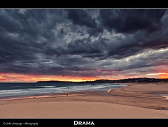 Drama (John_Armytage) Tags: sunset seascape clouds reflections sand colours australia nsw northernbeaches curlcurl leefilters canon5dmark11 johnarmytage wwwjohnarmytagephotographycom canon1635lf28iiusm