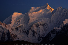 Malubiting Peak 7458m (Last Light) (M Atif Saeed) Tags: pakistan light sunset mountain mountains nature landscape karakoram northernareas rushlake 7000m atifsaeed