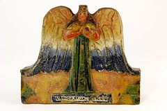 34. Latin American Carved and Painted Wood Angel