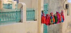 Kathputli Puppets (Marionettes) in Mandawa (Rajasthan), India (Crumblin Down) Tags: india house home hotel asia paint fort district painted walls hindu fresco jaipur hindi rajasthan haveli mansions frescos frescoes mandawa jhunjhunu shekhawati mundawa